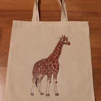 Giraffe Eco Fabric Reusable Shopping Tote Bag