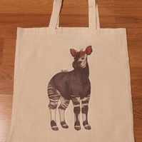 Okapi Eco Fabric Reusable Shopping Tote Bag