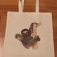 Sloth Eco Reusable Shopping Tote Bag