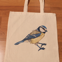 Blue-tit Eco Reusable Shopping Tote Bag