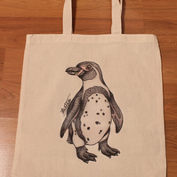 Penguin Eco Reusable Shopping Tote Bag