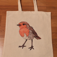 Robin Eco Reusable Shopping Tote Bag