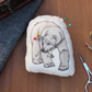Polar Bear Welsh Tweed Magnetic Plush Pin Cushion