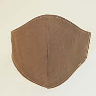 Cotton fabric face mask - brown