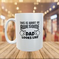 Awesome Dad Quote Mug