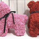 Handcrafted to order - Rose dog 40cm with free personalisation