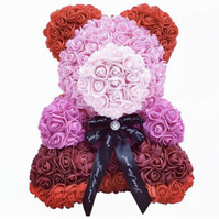 Handcrafted to order - Rose bear 40cm in luxury box with free personalisation
