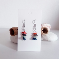 Natural Gemstone Crystal Earrings; Carnelian, Smokey Quartz, Amazonite, Lapis...