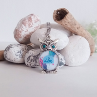 Owl Love Pendant Necklace