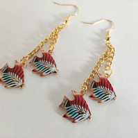 Tropical Fish Dangle Earrings