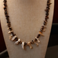 Natural shell and tigers eye necklace