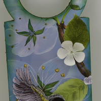 FOR SALE door plaque, hanging decoration plaque, BIRD HANDING