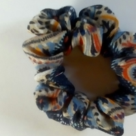 multi - colour scrunchie