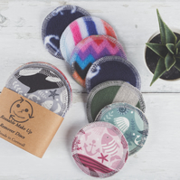Reusable Make Up Pads, Pack of 7, Handmade in Cornwall, Zero Waste, 7.5 cm