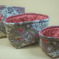 Quilted Stacking Baskets - Set of Three