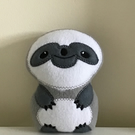 Sloth softie toy grey