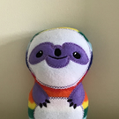 Sloth softie rainbow toy