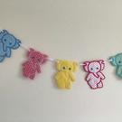 Nursery bunting elephants