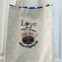 Tote bag with dog