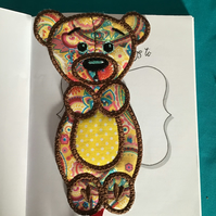 Animal bookmark Bear.