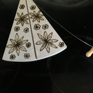 Flower Design on Wire Cheese Cutter Board. Pyrography