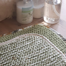 100% Cotton Knitted Dishcloths with binding x 2