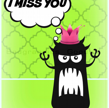 "A5 Greetings Card  Tell some one how you feel with this ""I miss you"" card"