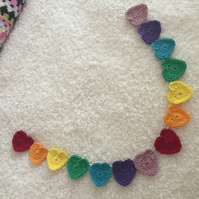 Rainbow Hearts Garland