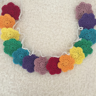 Rainbow Flowers Garland