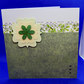 Green floral blank card