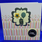 Green birthday buttons card
