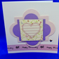 Striped heart birthday card