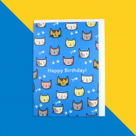 Cat Birthday Card - Happy Birthday