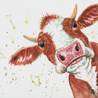 Brown Jersey Cow , original painting