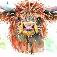Highland Cow, original painting