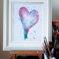 Love and Friendship Heart, original painting