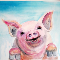 Porker the little pig. Original painting