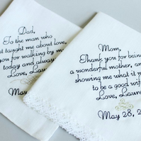 Mother of the groom bride or father of the groom and bride, Set of two 2 custom