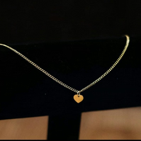 Gold Loveheart Charm Anklet - 14K Gold Filled or Gold Plated