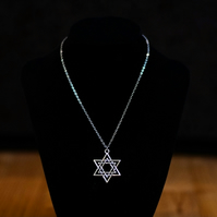 Double-Star Pendant Necklace - Stainless Steel or Sterling Silver