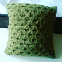 Hand-knitted Cushion cover 16 inch