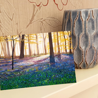 Bluebell Wood, Blank Note or Greeting Card