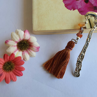 Carnelian Tassle Bookmark (0051)