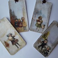 Vintage Christmas Gift Tags (Ref 0086)