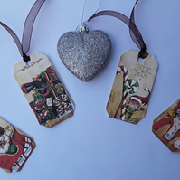 Vintage Childrens Christmas Gift Tags (Ref 0096)