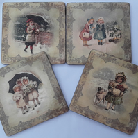 Vintage Children Coasters (Ref 0100)