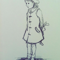Sketch of a little girl
