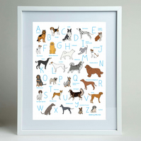 Alphabet of dogs A4 print