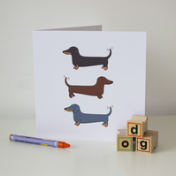 Dachshund greetings card