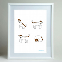 Jack Russell Terriers A4 print